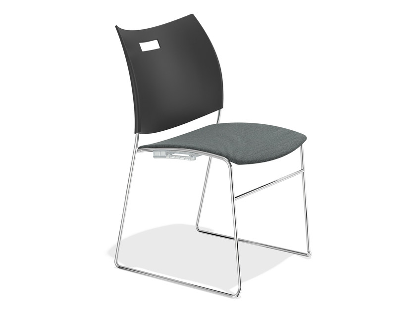 Sled base stackable chair CARVER 1259-00 by Casala
