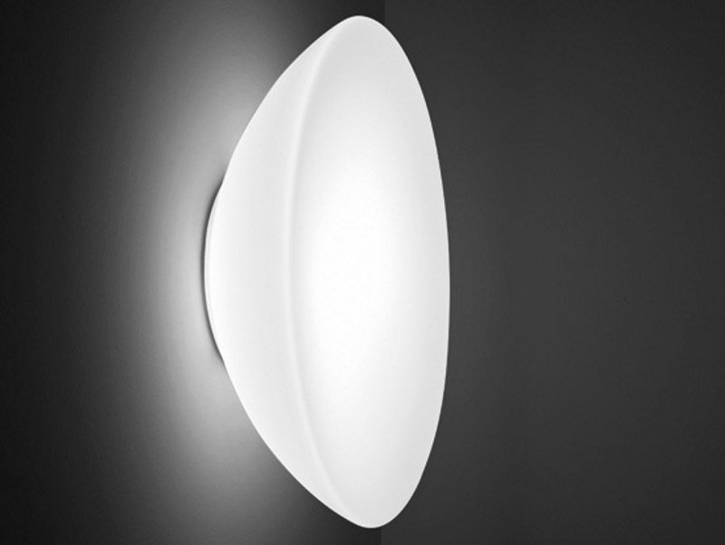 Glass wall light INFINITA AP by Vetreria Vistosi