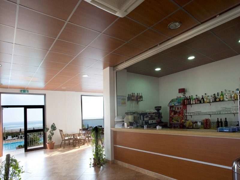 Acoustic MDF ceiling tiles WOOD SHADE LAY-ON by ITP
