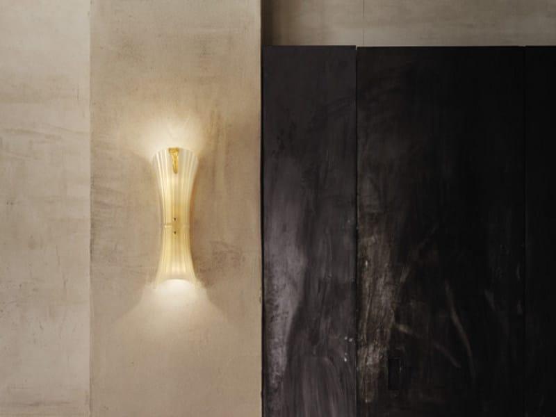 Blown glass wall light LAGUNA AP by Vetreria Vistosi