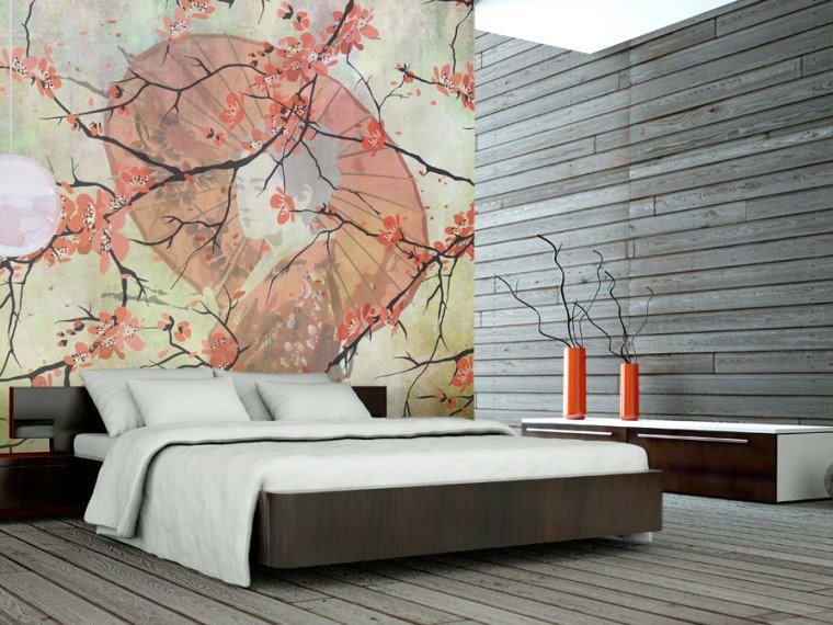 Nonwoven wallpaper GEISHA by MyCollection.it