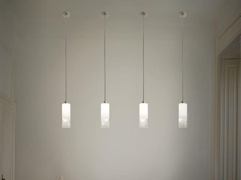 Glass pendant lamp LIO SP 1 P by Vetreria Vistosi