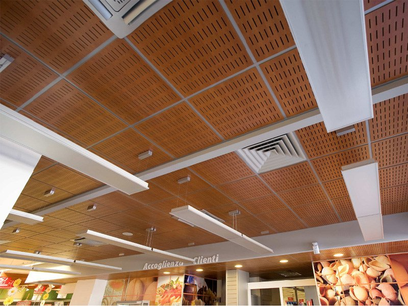 Acoustic Mdf Ceiling Tiles Wood Shade Lay In 24 By Itp