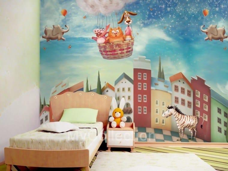 Landscape kids wallpaper ZOOLANDIA by MyCollection.it