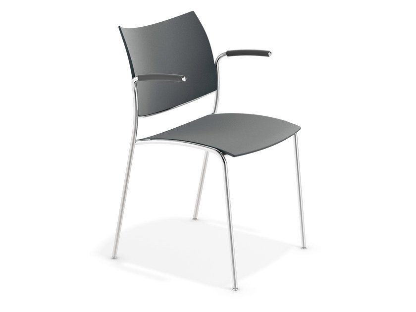 Plastic chair with armrests COBRA | Chair with armrests by Casala
