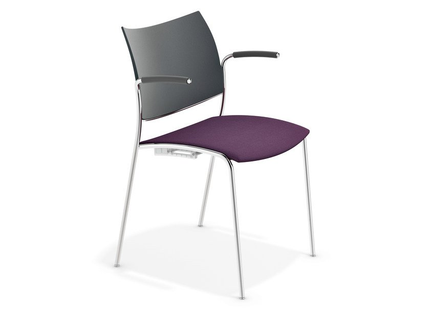 Reception chair with armrests COBRA | Chair with armrests by Casala