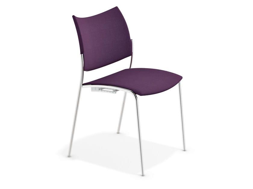 Fabric reception chair COBRA | Fabric chair by Casala