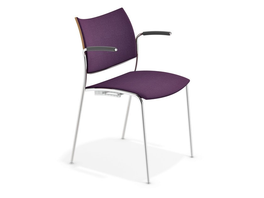 Fabric chair with armrests COBRA | Chair with armrests by Casala