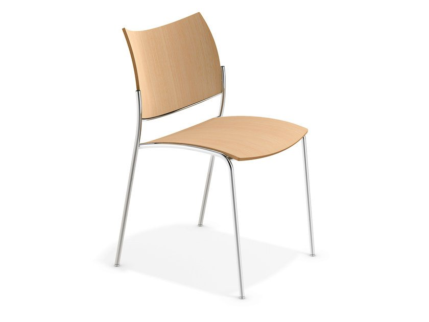 Stackable wooden chair COBRA | Wooden chair by Casala