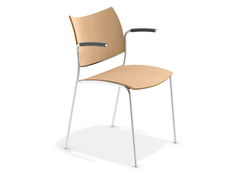 Wooden chair with armrests COBRA | Chair with armrests by Casala