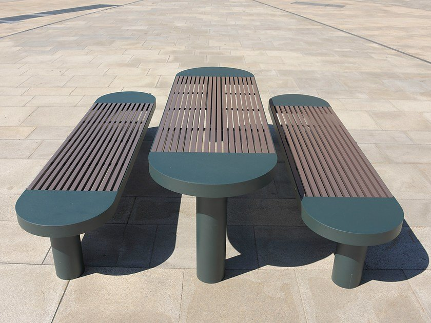 Stainless steel and PET Table for public areas COMFONY 90   Table for public areas by BENKERT BÄNKE