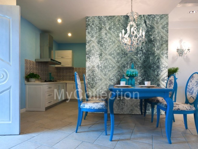 Motif nonwoven wallpaper OLD TILES by MyCollection.it