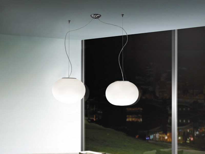 Blown glass pendant lamp LUCCIOLA SP D2 by Vetreria Vistosi
