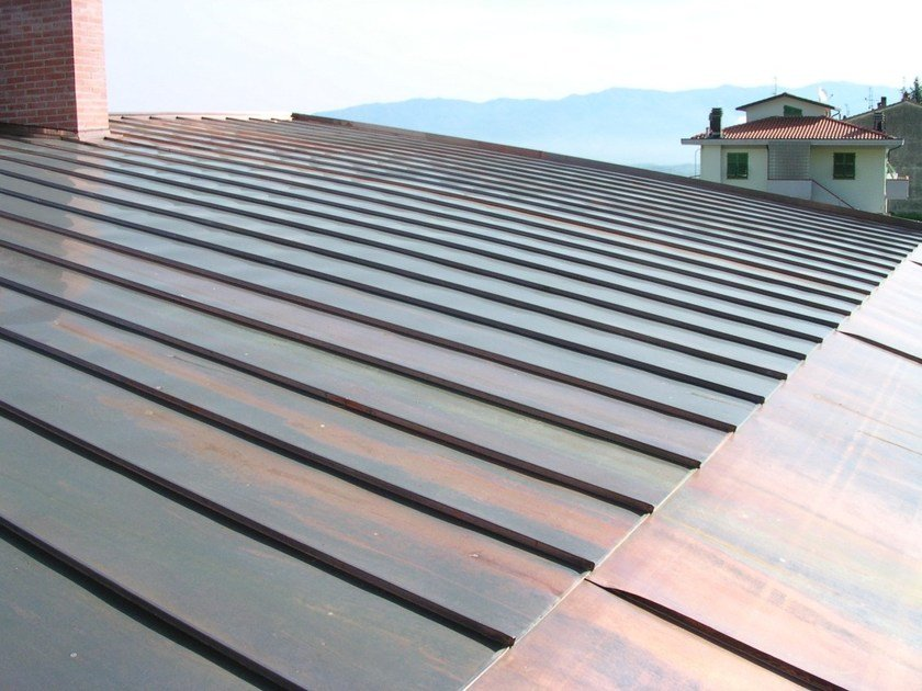 Continuous metal laminate for roof TECU® - Roof by KME Architectural
