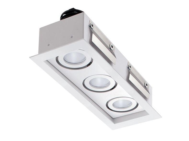 LED multiple recessed spotlight Quad Maxi 1.3 by L&L Luce&Light
