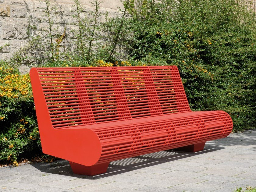 Bench with back SIARDO 500 R | Bench with back by BENKERT BANKE