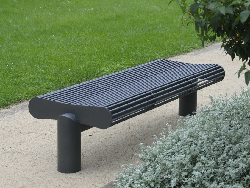 Backless stainless steel Bench SIARDO 600 R | Backless Bench by BENKERT BÄNKE