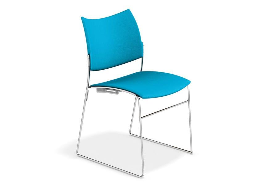 Sled base fabric training chair CURVY | Fabric chair by Casala
