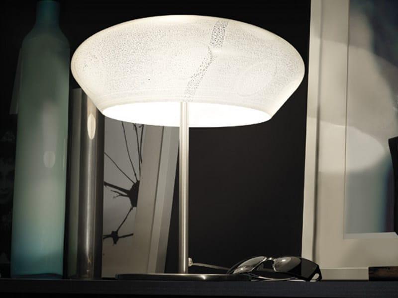 Blown glass table lamp MARBLÈ LT by Vetreria Vistosi