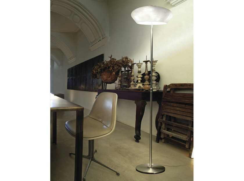 Blown glass floor lamp marblè pt by vetreria vistosi