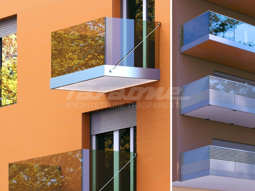 Anchorage system and profile for a facade NINFA BALCONE by FARAONE