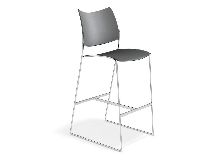 Plastic chair CURVY BARSTOOL | Chair by Casala