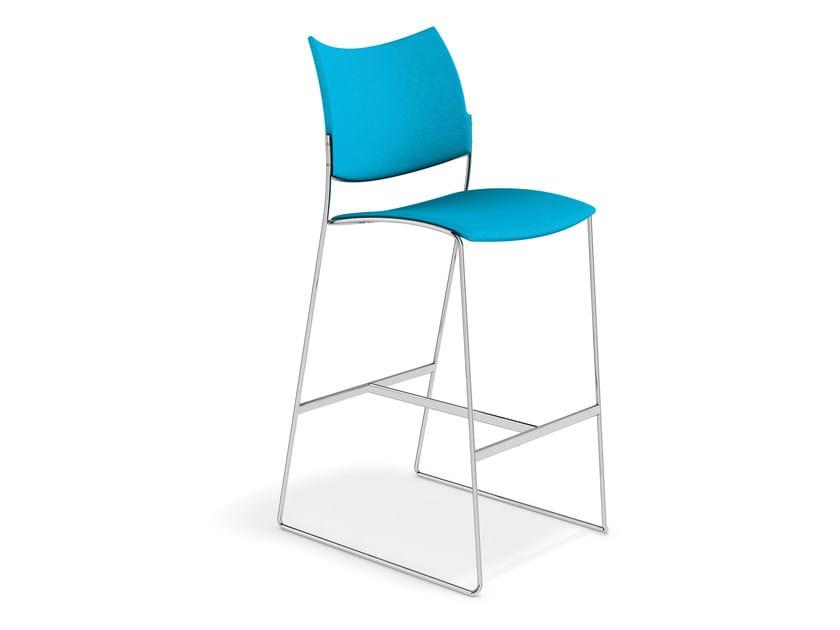 Fabric chair CURVY BARSTOOL | Chair by Casala