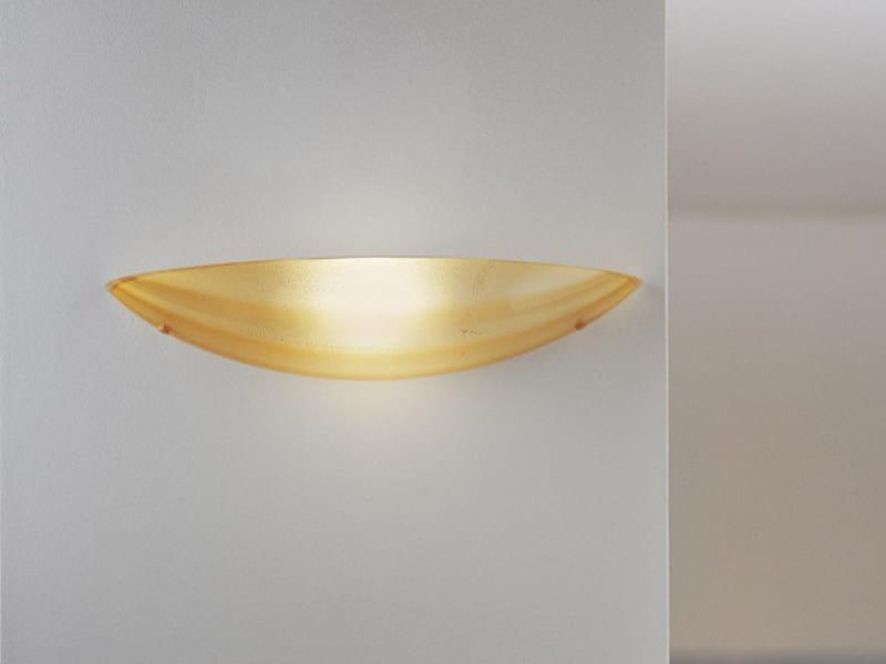 Blown glass wall light MAREA AP 47 by Vetreria Vistosi