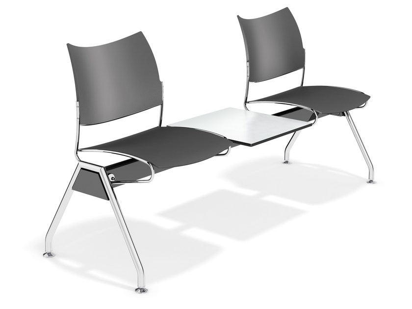 Plastic beam seating CURVY TRAVERSE | Beam seating by Casala
