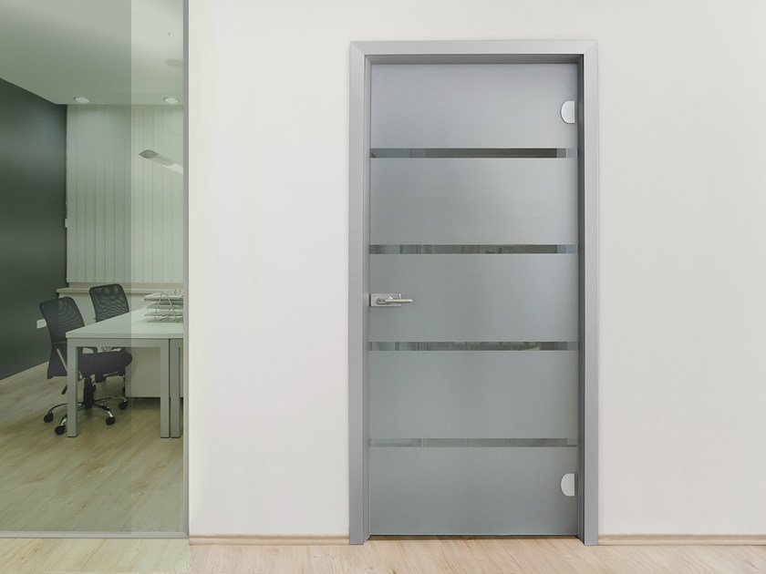 Hinged glass door without frame EASYDOOR | Door without frame by ALsistem