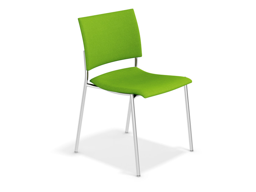 Stackable fabric chair FENIKS | Fabric chair by Casala