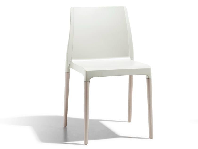 Ergonomic technopolymer chair NATURAL CHLOÉ | Chair by SCAB DESIGN