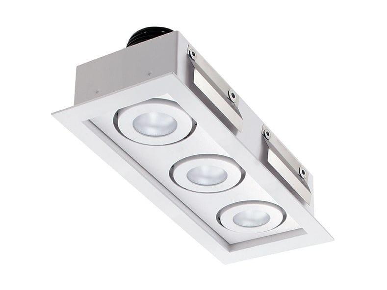 LED multiple recessed spotlight Quad Maxi 3.3 by L&L Luce&Light