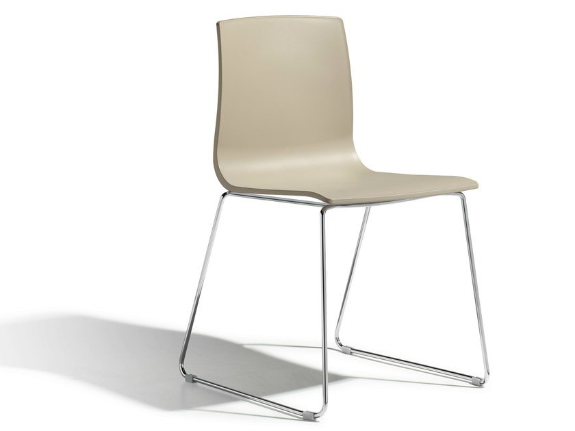 Sled base stackable technopolymer chair ALICE   Sled base chair by SCAB DESIGN