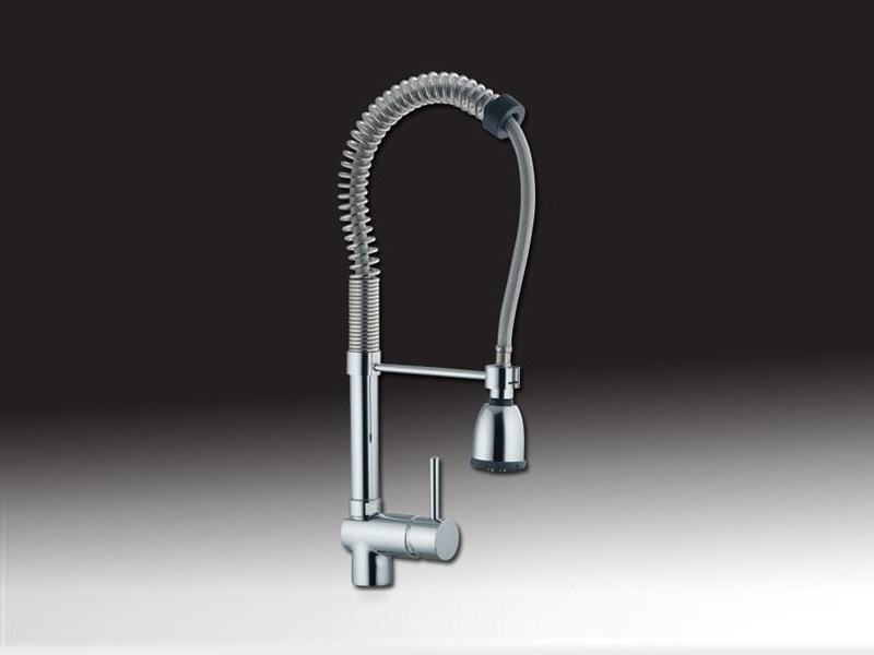 Professional kitchen mixer tap with pull out spray FUTURO | Professional kitchen mixer tap by Rubinetteria Giulini