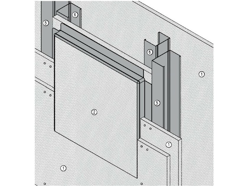 Fireproof inspection chamber for partition walls AKIFIRE WALL 180 - EI180 by ITP