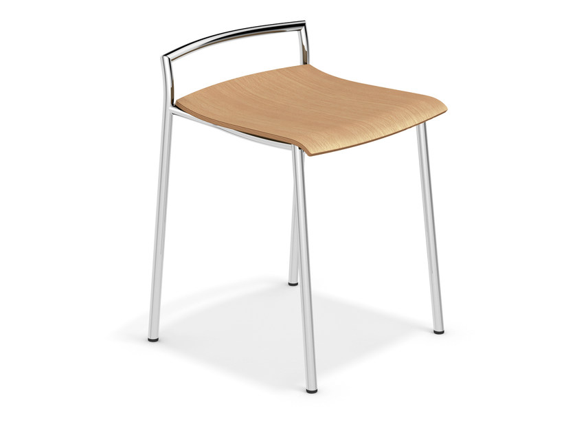 Low wooden stool FENIKS BARSTOOL | Low stool by Casala