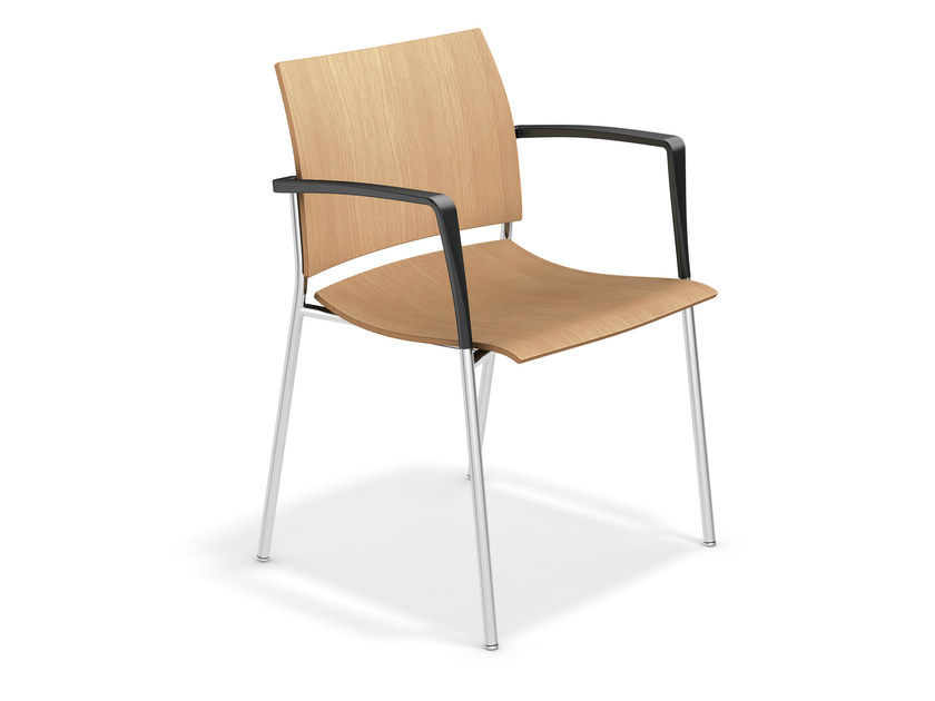 Wooden chair with armrests FENIKS XL | Wooden chair by Casala
