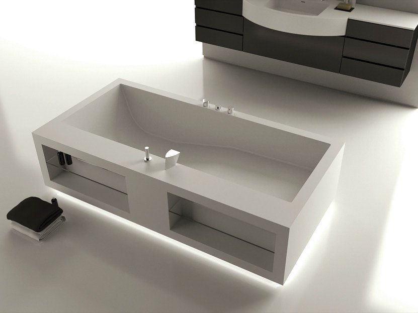 Rectangular bathtub LOUNGE by MOMA Design