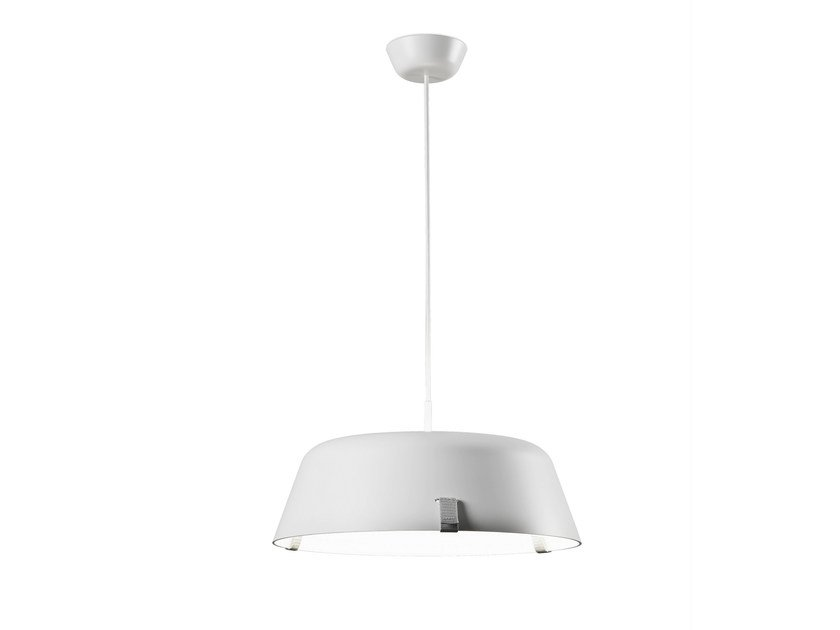 Direct-indirect light acrylic pendant lamp BORDERLINE SUSPENSION 444S by Vertigo Bird