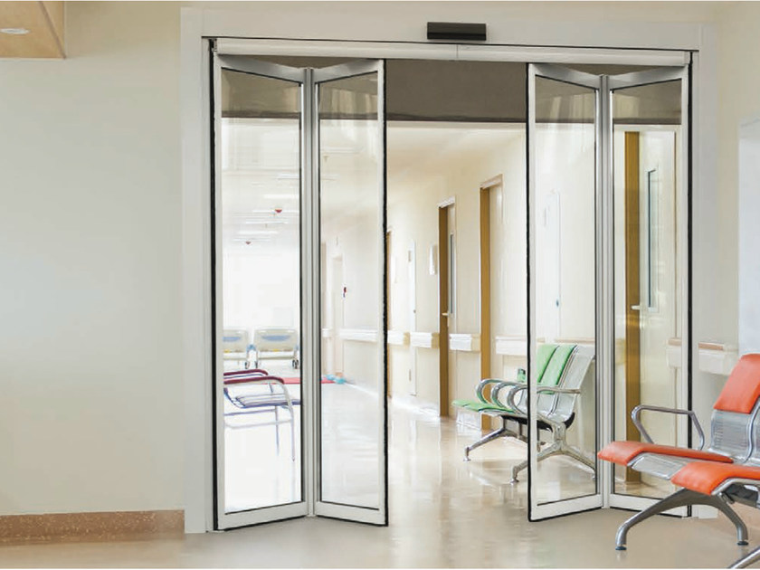 Automatic entry door SF140 by FAAC