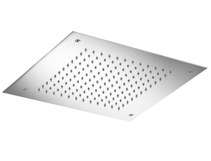 Contemporary style ceiling mounted stainless steel rain shower with anti-lime system VELA 08402 by MINA