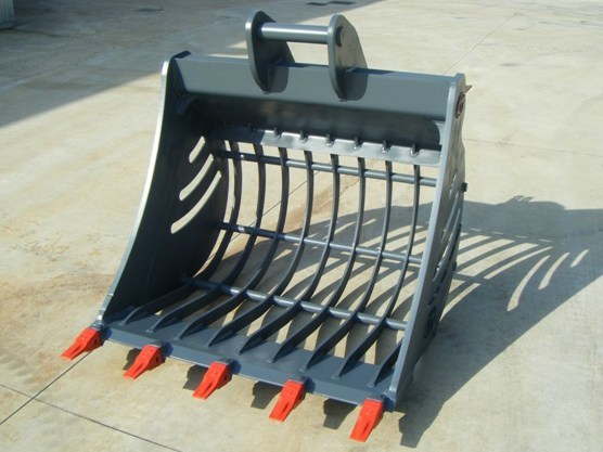 Accessories for construction site machinery GRILLED BUCKET by C.M. di Carollo