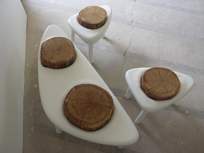 Triangular coffee table CRATÈRE | Coffee table by Binome