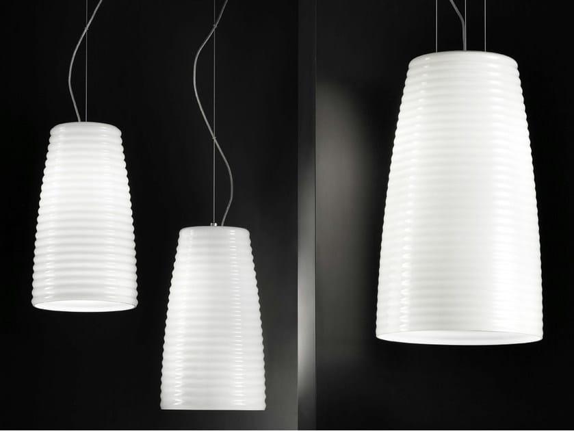 Glass pendant lamp MUMBA SP by Vetreria Vistosi
