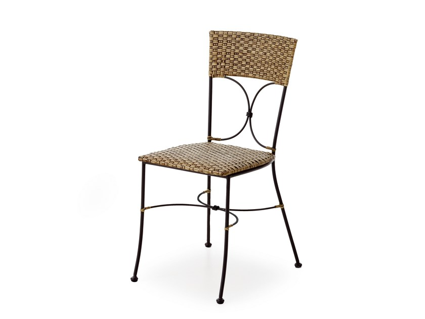 Woven wicker chair SHEFFIELD | Chair by Minacciolo