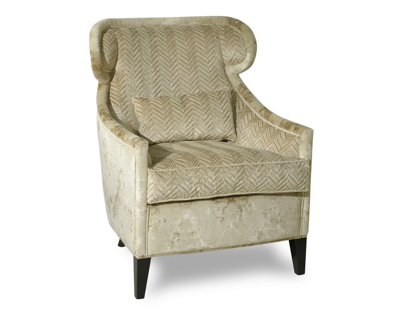 Upholstered wingchair with armrests ALCHIMIE by Transition by Casali