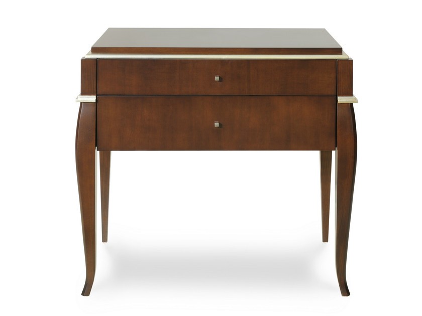 Rectangular bedside table with drawers RIVIERA | Bedside table by Transition by Casali