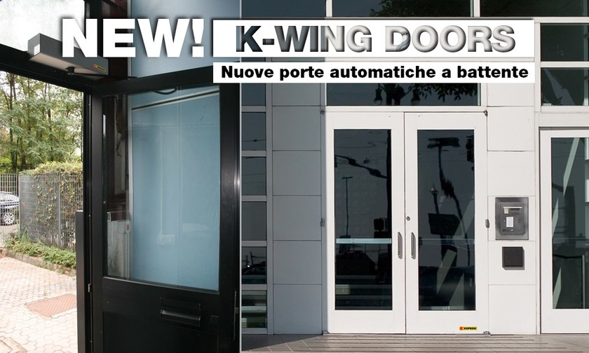 Automatic entry door K-WING by Kopron