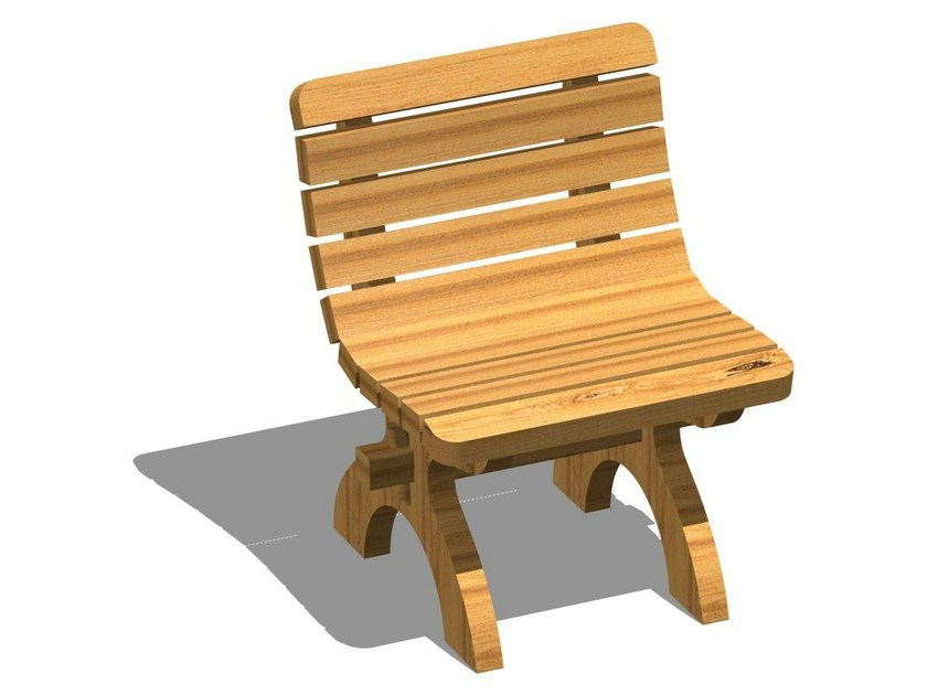 Wooden outdoor chair ARMONIA   Outdoor chair by Legnolandia